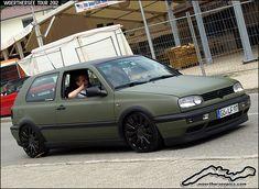 Satin Green VW Golf Mk3 by retromotoring, via Flickr