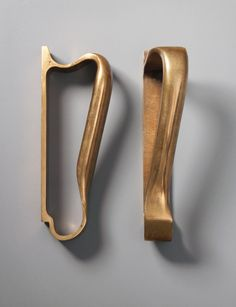 ALVAR AALTO, Pair of Door Handles, 1952-1957. Material brass. / Phillips..Died and went to heaven when i saw these...