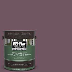 BEHR Premium Plus Ultra 1-gal. #S110-7 Exotic Eggplant Semi-Gloss Enamel Exterior Paint
