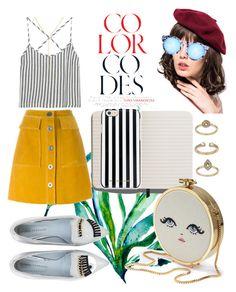 """oh la la....bandelettes"" by trendssetterr ❤ liked on Polyvore featuring M.i.h Jeans, Kain, Chiara Ferragni, Front Row Shop, Quay, Shinola, MICHAEL Michael Kors, Topshop and stripedshirt"