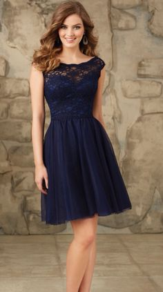 Shop Morilee's Short Tulle Bridesmaid Dress with Fitted Lace Bodice. Bridesmaid Dresses and Gowns by Morilee designed by Madeline Gardner. Sweet Lace and Tulle Bridesmaid Dress Bridesmaid Dresses Under 50, Navy Bridesmaid Dresses, Lace Bridesmaids, Prom Dresses, Dresses 2016, Bridal Dresses, Cheap Dresses, Best Party Dresses, Wedding Party Dresses