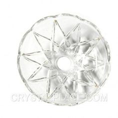 Clear Crystal Bobeche 6 Inches With 10mm Center Hole And 5 Pins By Magnificent Crystal  $8.50