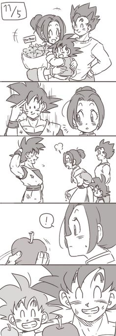 Nawww now this is sweet, she remembered a time when Goku first gave her an apple as a child. Naww very sweet indeed