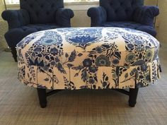 The Montecito Ottoman now available at Lee Ann Thornton Home Collection... My Fabric Inspriration — Lee Ann Thornton Interiors