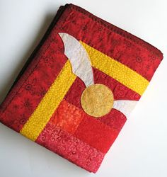 Harry Potter Gryffindor baby quilt.   Gotta start 'em early...