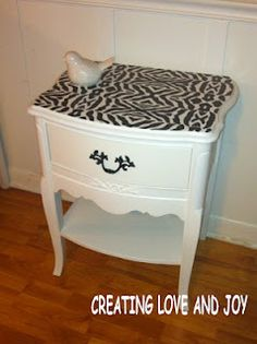 Creating Love And Joy: Amazing Side Table Makeover