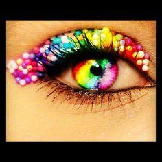 sparkly rainbow eye