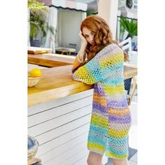Orient Beach Tunic (Crochet) - Lion Brand Yarn