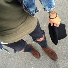 Men's Fashion, Fall Fashion, Ripped Jeans