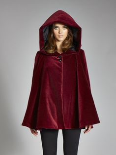 I would actually pay $300.00 for this... LOVE!!!  *PREORDER* The ANGELA Swing Coat in Insulated Organic Moleskin - Red