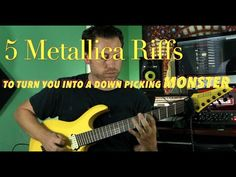 5 Metallica Riffs to Improve Your Downpicking Easy Guitar Songs, Guitar Tips, Music Guitar, Playing Guitar, Learning Guitar, Ukulele, Music Sing, Art Music, Electric Guitar Lessons