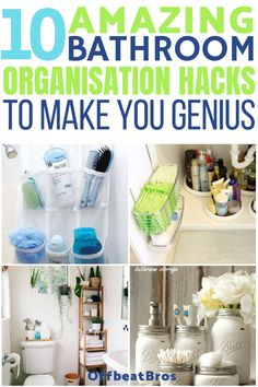 Bathroom organization ideas that will make bathroom organizing easy. These genius bathroom organization ideas are must know if you want to get an organized bathroom easily. Check out these bathroom organization ideas today! Small Bathroom Organization, Bathroom Storage, Organized Bathroom, Bathroom Styling, Kitchen Organisation, Vanity Organization, Storage Room, Home Organization Hacks, Organizing Your Home