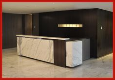 Modern Marble Reception Desk Design