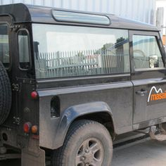 Masai Iridium - Mirrored, Tinted, Bonded Side Windows for Land Rover Defender 90 & 110