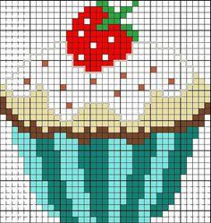 Cupcake cross stitch.