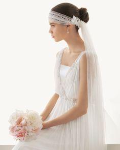 Love reception veil by Rosa Clara