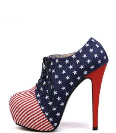 Stars And Stripes Platform Heels
