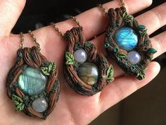 Wiccan, Pagan, Magical Power, Tree Pendant, Fantasy Jewelry, Clay Ideas, Clay Creations, Polymer Clay Jewelry, Clay Crafts