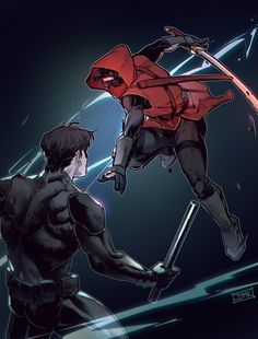Can't wait for young justice (Red Hood and Nightwing by JJMK)You can find Young justice and more on our website.Can't wait for young justice (Red Hood and Nightwing by JJMK) Young Justice Red Hood, Nightwing Young Justice, Young Justice Comic, Young Justice League, Batman Comic Art, Batman Robin, Batman Red Hood, Gotham Batman, Red Hood Comic