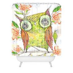 Cori Dantini little olive Shower Curtain   DENY Designs Home Accessories
