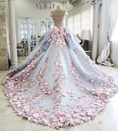 Custom Made Great Ball Gown Wedding Dresses Pretty Flowers Quinceanera Dresses, Ball Gown Long Backless Wedding Gowns Prom Gowns, Wedding Gowns, Lace Wedding, Luxury Wedding, Bridal Gowns, Homecoming Dresses, Pink Wedding Dresses, Graduation Dresses, Casual Wedding