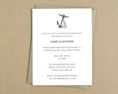 Nautical Party Invitation with Anchor / by JubileeDesignStudio, $32.00