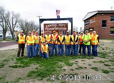 KDOT employees at the Pratt Area Office. They are participating in National Work Zone Awareness Week, April 15-19, and wearing orange to show their support for highway workers across Kansas to raise awareness on the need for safety in work zones. Find out more about KDOT's work zone safety efforts at www.ksdot.org and click on the Go Orange logo.