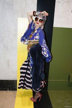 Catherine Baba - Soirée de lancement de la collection Pop de Lancel au Palais de Tokyo à Paris, le 23 avril 2015.