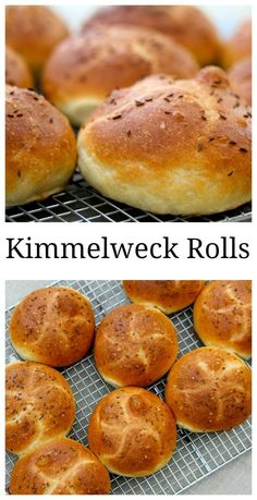 Kimmelweck rolls are like Kaiser rolls but are topped with caraway seeds and salt for Beef on Weck sandwiches Savory Bread Recipe, Bread Recipes, Instant Yeast, Sweet Breakfast, Artisan Bread, Rolls Recipe, Cravings, Scones, Beef