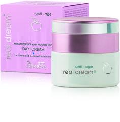 Dzintars Real Dream Anti-Age Moisturizing and nourishing day cream for normal and combination face skin/hydratačný a vyživujúci denný krém pre normálnu a zmiešanú pleť