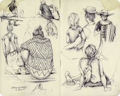 This collection of inspirational sketchbook art is by Pat Perry, he is an artist from Michigan and a member of the Beehive Design Collective.