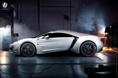 Lykan Hypersport: This Arab-built supercar has a 750hp twin-turbo flat-six, diamond-encrusted LED headlights and gold-stitched leather inside. Only 7 will be made, with a sheiks-only price of $3,400,000.00.