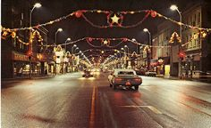 Many small towns looked like this at Christmas time!!