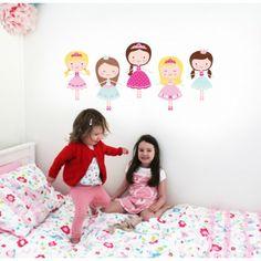 Muursticker prinsessen koets xxl prinsessenkamer kids decoshop webshop kinderkamer - Kinderkamer decoratie ...