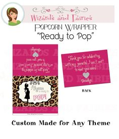 Baby Shower Favor...Microwave Popcorn by WizardsandFairies on Etsy, $15.00