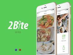 2Bite UI Kit #ui #ux #mobile #app