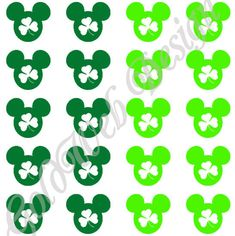 St. Patricks Day Mickey Mouse Inspired Vinyl by GoldWebDesign