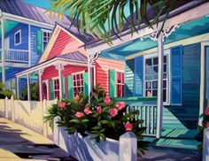 Key west houses - playful color and style. Sunshine in my home, summer in my heart!