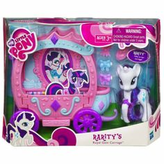 Amazon.com : My Little Pony Rarity's Royal Gem Carriage : Fashion Doll Playsets : Toys & Games