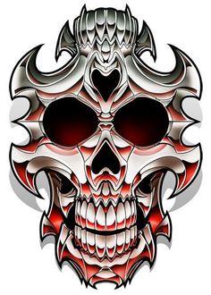 Double Skull - Chrome Temporary Tattoo | Tatt Me Temporary Tattoos