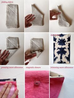 inked dyed clutch