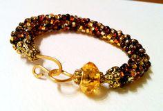 Baroque (7 inch) Golden Topaz Bangle Bracelet currently ON SALE $48.00