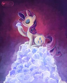 Diamonds are a mare's best friend by meownyo.deviantart.com on @deviantART #mlp #mylittlepony #rarity