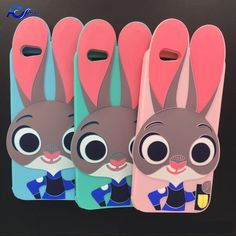 Crazy City Silicone Phone Bag Case For iPhone 7 6 Plus Cartoon Case iPhone Zootopia Rabbit Judy Hopps Soft Cover Iphone 5s Covers, Iphone Phone, Iphone Cases, Mobile Phone Cases, Cell Phone Cases, Judy Hopps, Silicone Phone Case, Party Favor Bags, Zootopia