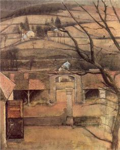 Balthus (French: 1908 - 2001)   Landscape in Chassy