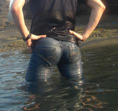 """Original pinner said """"I present to you- Jensen Ackles ass.... in wet jeans."""""""
