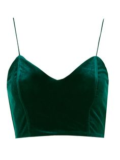 A fashion look from September 2016 featuring velvet top, racerback top and velvet crop tops. Browse and shop related looks. Cami Tops, Cami Crop Top, Crop Shirt, Party Crop Tops, Velvet Cami, Velvet Tops, Topshop Tops, Cropped Tops, Embellished Crop Top
