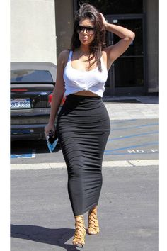 Kim goes to a studio on Sept. 18, 2014, in Los Angeles.