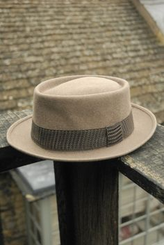 c4cd7b1de5d Items similar to Vintage 50 s American Portis Brand Pork Pit Stingy Fur  Felt Fedora Trilby Hat UK 6 3 4 on Etsy