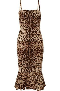 Leopard-print silk-cady Concealed hook and zip fastening at back 95% silk, 5% elastane; lining: 66% silk, 15% cotton, 11% elastane, 8% polyamide Dry clean Made in Italy
